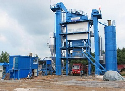 One set LB1500 asphalt mixing plant delivered to Middle Asia