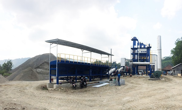 Recently Another Asphalt Mixing Plant Installed in Indonesia Successfully