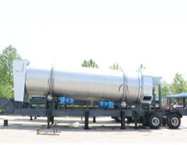 Recently finished one new mobile asphalt mixing plant