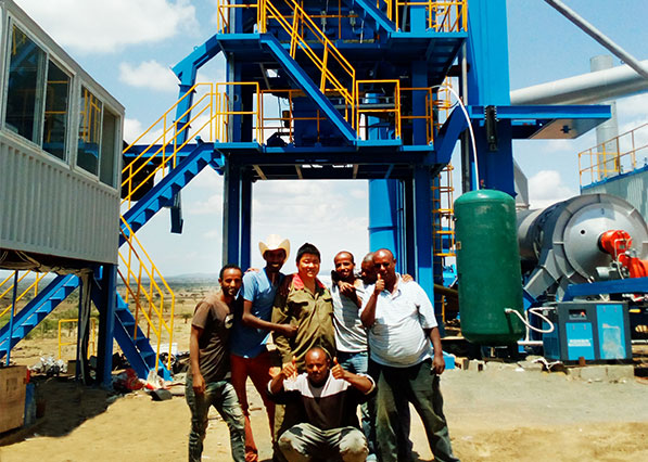 One Set of YLB1500 Asphalt Plant Set Up in Ethiopia