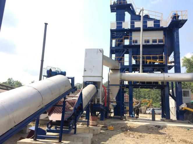 Installation of Asphalt Mixing Plant in Indonesia