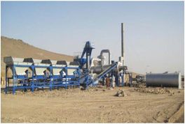 Process flow and Operating principle for DHB60 drum type asphalt mixing plant