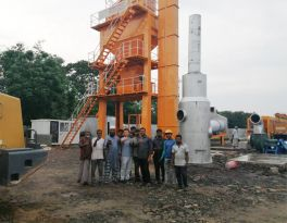 LB1000 Asphalt Batch Mix Plant is installing at Bangladesh