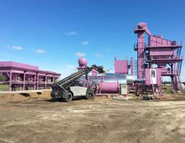 Installed one set LB2000 asphalt mixing plant in Russia