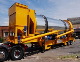 Delivery of one set MDHB asphalt drum mixing plant