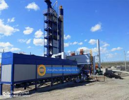 Installed one set LB asphalt mixing plant in Philippines